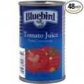 Bluebird Tomato Juice 5.5 Ounce 48 per Case-$46.65 Free Shipping